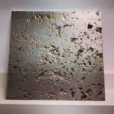 Gilded Stone for Decorative Wall Tile. Gilded by Stuart Fox