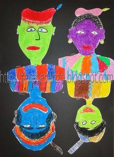 Na alle discussie over de kleur van de Pieten, is het tijd voor een eigen invulling! Teken een Piet die niet zwart is - hoofd en borst...