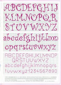 cross stitch alphabet nice curly easy to read -- looks easy to do: