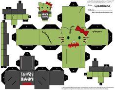Hello kitty zombie from cyberdrone zombie cute schedule