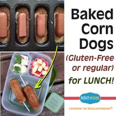"""""""Make your own corn dogs (#glutenfree or regular) for your #lunchbox! From @keeleymcguireblog. You can find the link to the recipe on Keeley's FB page-…"""""""