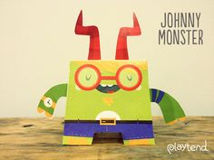 Make your very own paper monster with our free Johnny Monster template. Just cut, fold and paste and you'll have a little monster friend of your very own.