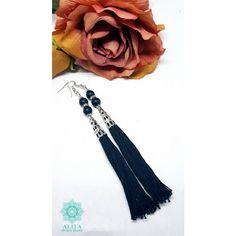 Ónix bojtos ásvány fülbevaló Tassel Necklace, Tassels, Band, Accessories, Jewelry, Sash, Jewlery, Jewerly, Schmuck