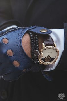 ' — Arnold & Son Gentleman's Essentials Biker Gloves, Mens Gloves, Leather Gloves, Leather Bag, Gentleman Watch, Gentleman Style, Cool Watches, Watches For Men, Driving Gloves