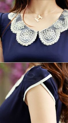 Lace-Collared Top