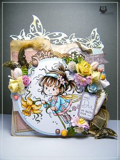 Card, Copic, cute, Whimsy Stamps