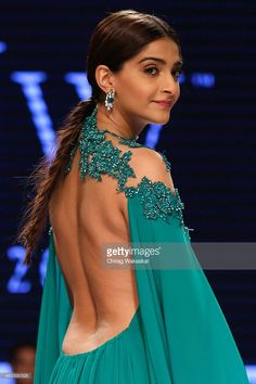 Sonam Kapoor walks the runway during Day 1 of the India International Jewellery Week at the Grand Hyatt on August 3, 2015 in Mumbai, India.