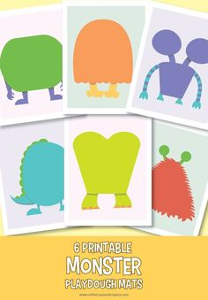 Keep kids happy with these free printable monster play dough mats! Great for quiet time at home or as a busy bag on the go! Monster Activities, Monster Crafts, Playdough Activities, Preschool Activities, Preschool Age, Free Preschool, Play Doh, Play Dough Mats, Monster Party