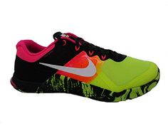 Nike Mens Metcon 2 Shoes VoltBlackWhite 701 Size 105 >>> Click on the image for additional details.