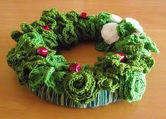 Esther's Blog: Crochet Christmas Wreath: Year 2