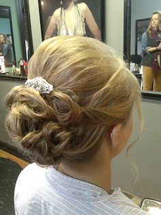 Beautiful formal style wedding prom hair updo *All About You* Hair by Brandy Bilbrey 615-792-8817