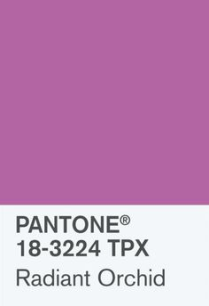Radiant Orchid ♥ Pantone 2014