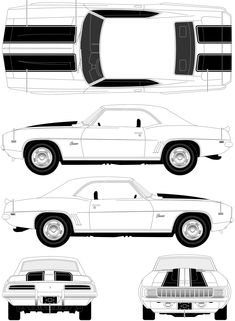 chevrolet camaro ss blueprints vector drawings clipart and pdf templates