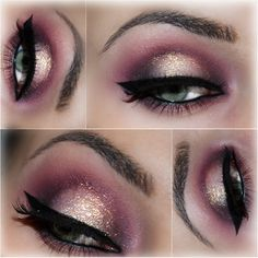 Marsala makeup #coloroftheyear #eyeamakeup #glitter