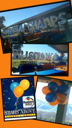 Championship balloons for schools events