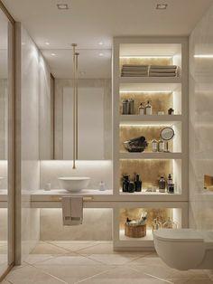 Home Room Design, Dream Home Design, Home Interior Design, House Design, Interior Ideas, Bathroom Design Luxury, Modern Bathroom Design, Modern Bathrooms, Small Bathrooms