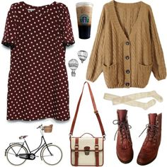 """Polka dotties"" by hanaglatison on Polyvore"