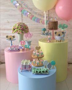 Unicorn Birthday Parties, Baby Birthday, Birthday Party Decorations, Baby Shower Decorations, Baby Shower Cakes, Baby Boy Shower, Bee Cake Pops, Festa Party, Ice Cream Party