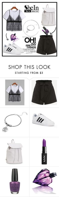 """""""Shein 7"""" by amra-f ❤ liked on Polyvore featuring adidas, Aéropostale, NYX, OPI, Diesel and shein"""