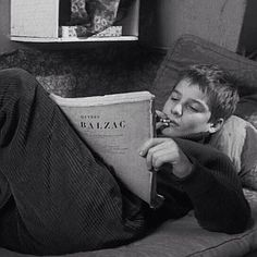 He reads a vintage Balzac. [Les Quatre Cent Coups 1959] also my first Truffaut. #jeanpierreléaud/#jeanpierreleaud #antoinedoinel #lesquatrecentscoups/#the400blows #françoistruffaut/#francoistruffaut #frenchnewwave/#nouvellevague #vscocam by darnius
