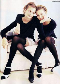 Bridget Hall & Niki Taylor   Photography by Pamela Hanson   For Vogue Magazine US   February 1994
