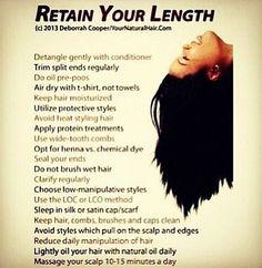 For length. Natural hair