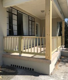 37 Inexpensive Diy Curb Appeal Design Ideas On A Budget To Try Right Now Design Blog, Design Ideas, Front Porch Railings, Outdoor Glider, Porch Kits, Diy Porch, Porch Ideas, Building A Porch, Railing Design