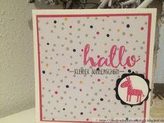 Die Bastelwerkstatt: Babykarte....