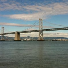 Bay bridge from SF. Beauteous !!