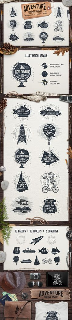 Trendy Badges and Logos Template #design Download: http ...