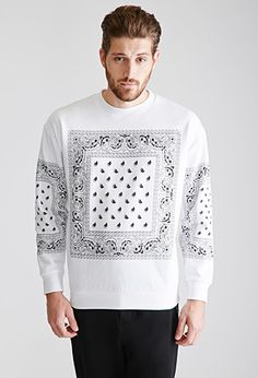 Bandana Print Sweatshirt | 21 MEN - 2049258990
