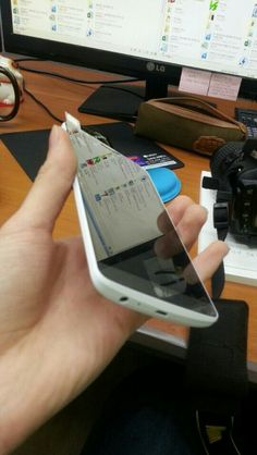 Upcoming LG's flagship device LG G3 live photo (front)