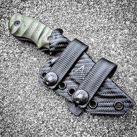 Esee Candiru Kydex Neck Sheath W Mini Bic Holder Lighter