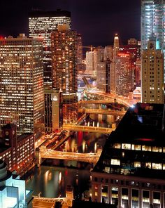 Chicago River At Night....Things to do like a local in chicago