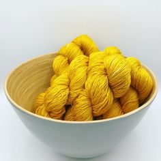'Turmeric' on our yak, silk base will brigthen up any rainy day. Carefully hand dyed with yellow onion skins and turmeric. Turmeric, Dog Food Recipes, Serving Bowls, Onion, Base, Silk, Yellow, Tableware, Dinnerware