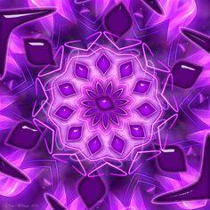 CRIATIVA EMOCIONAL: Chama Violeta - Mandala Transmutar
