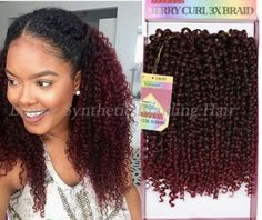 jerry curly on sale at reasonable prices, buy Ombre freetress water wave deep twist hair Synthetic Braiding Hair freetress kinky Jerry curly Crochet Braids Hair from mobile site on Aliexpress Now! Curly Crochet Braids, Crochet Braids Hairstyles, Twist Hairstyles, Crochet Hair Styles, Freetress Crochet Hair, Crochet Style, Curly Braids, Short Braids, Box Braids