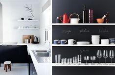 10 must have per trasformare la tua cucina in una che sembri appena uscita da Pinterest:  1. Mensole:niente pensili, tutto a vista! Requisito fondamentale quindi è la scelta cromatica di piatti e accessori (vedi n. 9) e un finto-disordine!  ---  10 things you need to transform your kitchen in