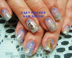 #nail #nails #nailart #trendynails #nailideas #naildesign #gelnails #gelpolish #nailpolish #manicure #gelmanicure #bling #glitter #blue #timepieces #steampunk #feminine #rhinestones #art #nailporn #handpaintednailart
