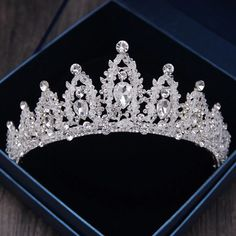 99b Super Size Dazzling Wedding Pageant Bridal Silver Plated Flower Crystaltiara Clothing, Shoes & Accessories Engagement & Wedding