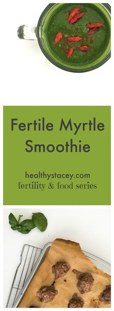 Food & Fertility Series: Episode 1 + Fertile Myrtle Smoothie Recipe - Healthy Stacey – Paleo Recipes by Stacey Clarke Fertility Smoothie, Fertility Foods, Fertility Boosters, Fertility Help, Fertility Doctor, Smoothie Drinks, Healthy Smoothies, Smoothie Recipes, Baby Smoothies