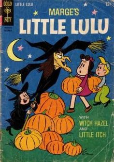 Every day this month, Ill be posting a Halloween comic book cover! Marges Little Lulu All covers from the Grand Comics Database . Tomorrows wallpaper Recent pages I added to the DC Comics Database : Roger Randolph (Quality Universe) Retro Halloween, Halloween Books, Happy Halloween, Classic Comics, Classic Cartoons, 60s Cartoons, Vintage Comic Books, Vintage Comics, Mickey Mouse