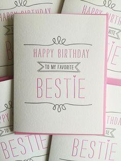 Geburtstagskarte für die beste Freundin-Karte von DeLuceDesign