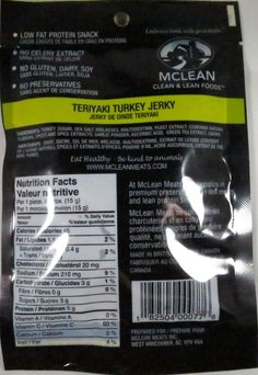Discover how McLean Clean & Lean – Teriyaki turkey jerky fared in a jerky review. http://jerkyingredients.com/2016/06/01/mclean-clean-lean-teriyaki-turkey-jerky/ @mcleanmeats #mcleanmeats #turkeyjerky #review #food #jerky #ingredients #jerkyingredients #jerkyreview #turkey #paleo #paleofood #snack #protein #snackfood #foodreview #teriyaki #teriyakijerky