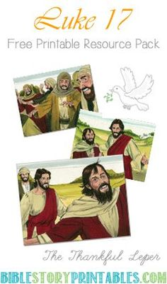 The Thankful Leper Bible Story Printables Copywork, Bible Verse Cards, Story Visuals, Timeline Printables, and more