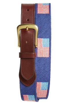 Harding-Lane American Flag Needlepoint Belt Needlepoint Belts f598e72565
