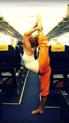 yoga anywhere, anytime! even in flight. this is not Bikram, but love it.
