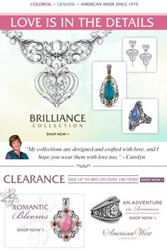 Carolyn Pollack Jewelry | Sterling and Natural Gemstone Jewelry - loooooove it