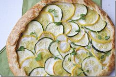 Zucchini, Squash and Ricotta Galette --     Gonna make it Gluten-free by substituting with Bob's Red Mill GF flour