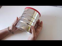 Latas decoradas - Reciclaje - Manualidades fáciles - DIY - Arte en casa - YouTube Nifty Crafts, Tin Can Crafts, Creative Crafts, Diy And Crafts, Glass Bottle Crafts, Bottle Art, Fork Art, Recycled Tin Cans, Cement Crafts